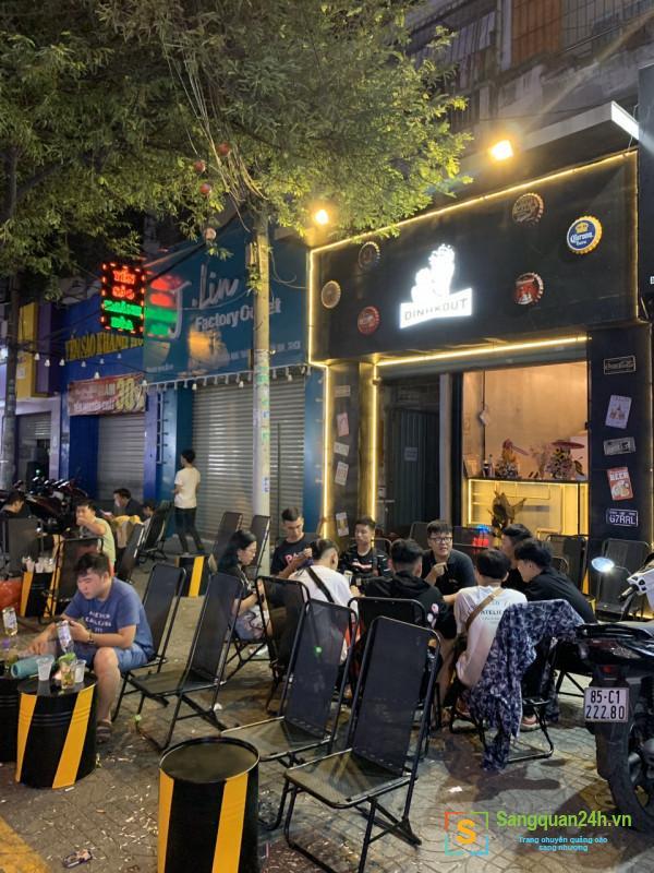 Sang nhanh quán CAFE BEER mặt tiền đường CMT8 - Quận Tân Bình.