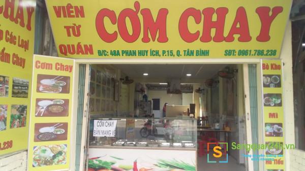 Cần sang nhanh quán cơm mặt tiền đường Phan Huy Ích, phường 15, quận Tân Bình.