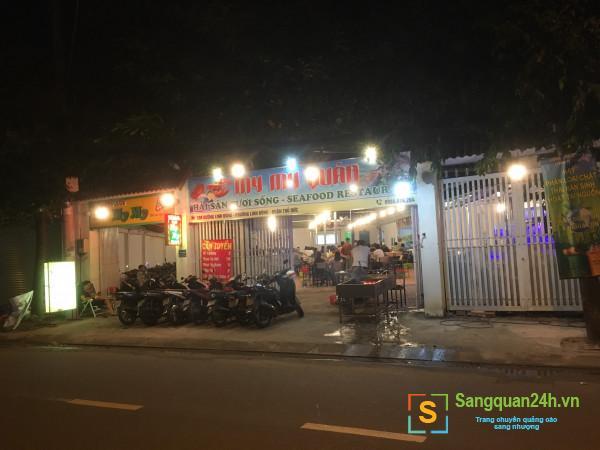 Sang nhanh quán nhậu mặt tiền đường Linh Đông, khu dân cư, chung cư đông đúc, sầm uất.