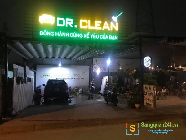 Sang tiệm rửa xe bọt tuyết ô tô, xe máy và cafe mặt tiền đường Vườn Lài Nối Dài, phường An Phú Đông, quận 12.