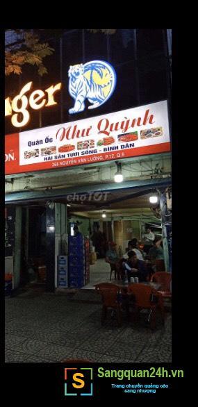 Sang nhanh quán ốc nằm mặt tiền đường Nguyễn Văn Luông, phường 12, quận 6.